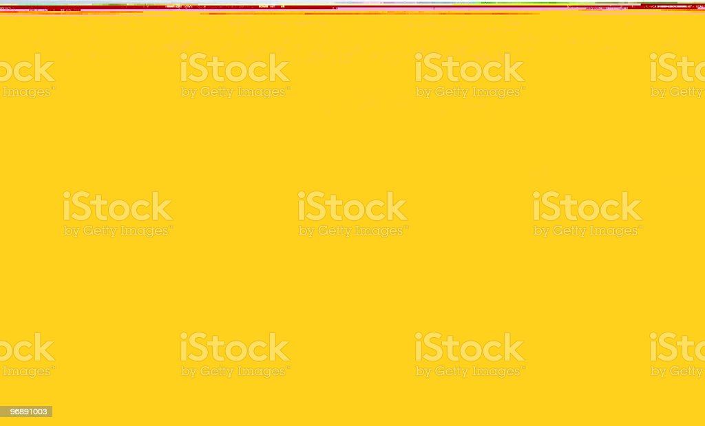 Yellow with a thin strip of red at the top royalty-free stock photo