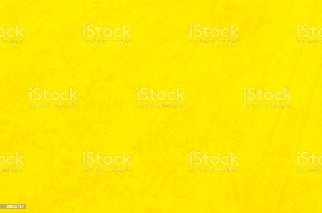 Yellow With Flower Pattern stock photo