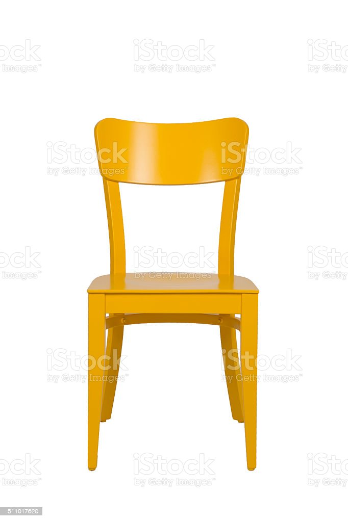 Yellow Wooden Chair stock photo