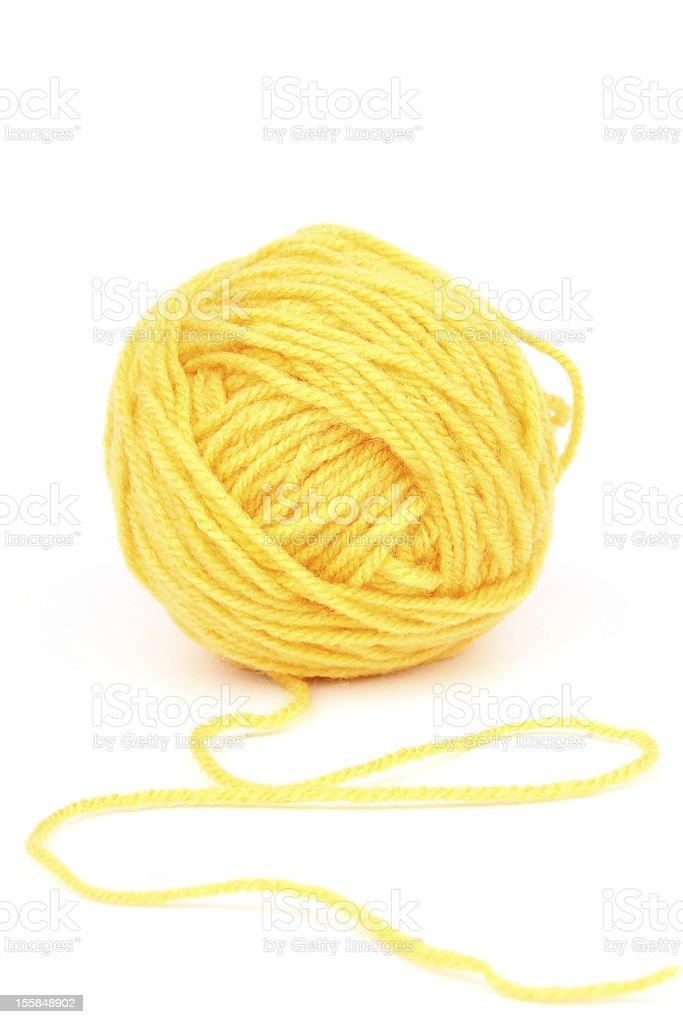Yellow wool royalty-free stock photo