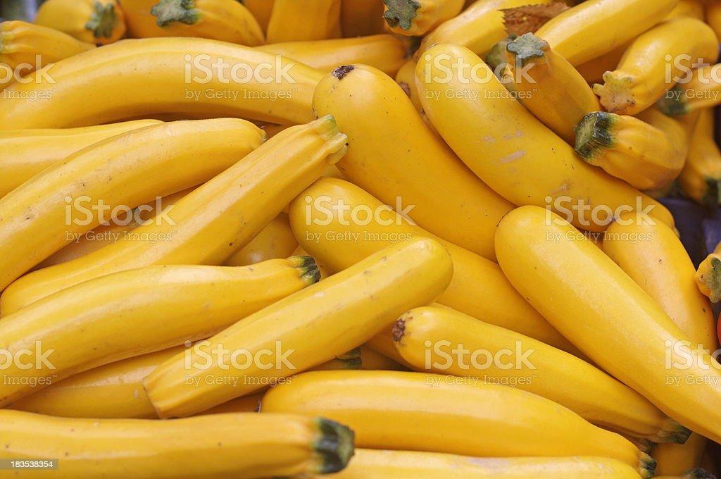 Yellow Zucchini stock photo