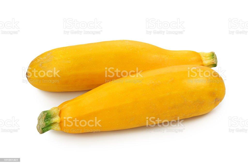 Yellow zucchinis stock photo