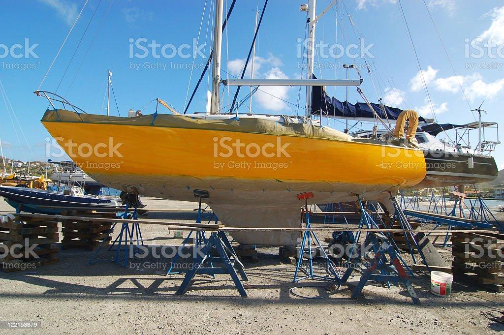Yellowboat royalty-free stock photo