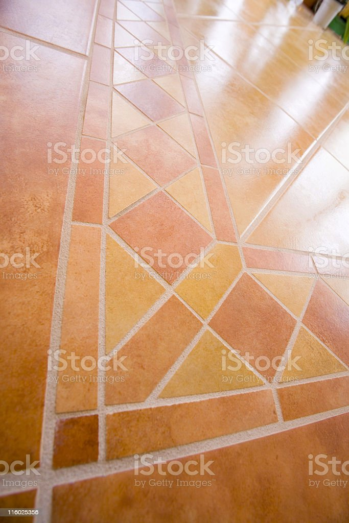 Yellow-brown mosaic royalty-free stock photo