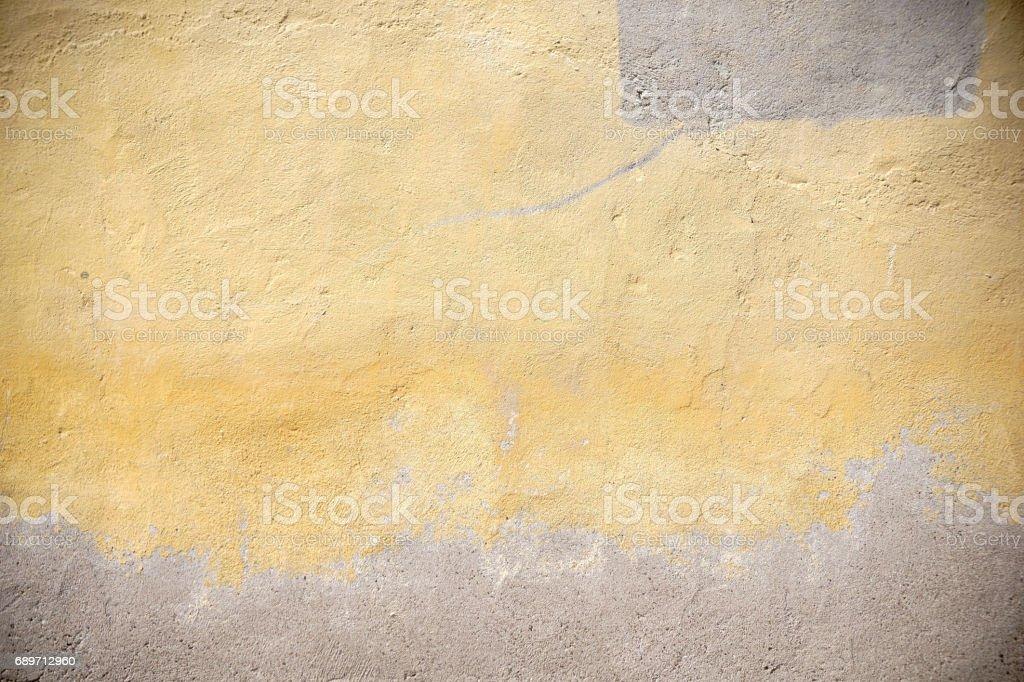 Yellowed facade stock photo
