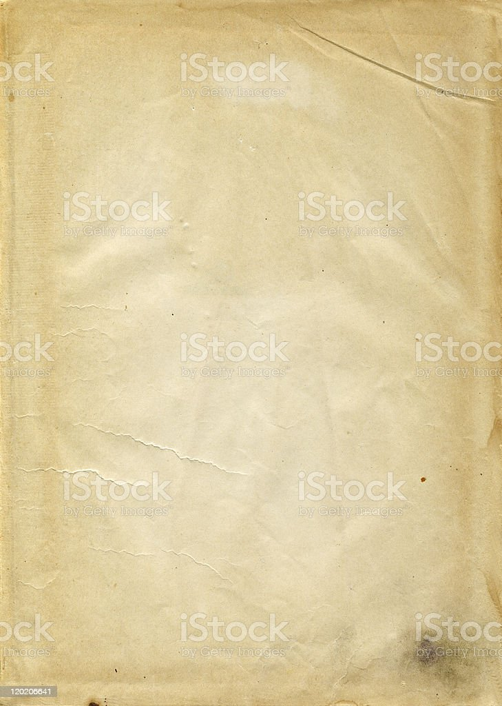 yellowed paper royalty-free stock photo