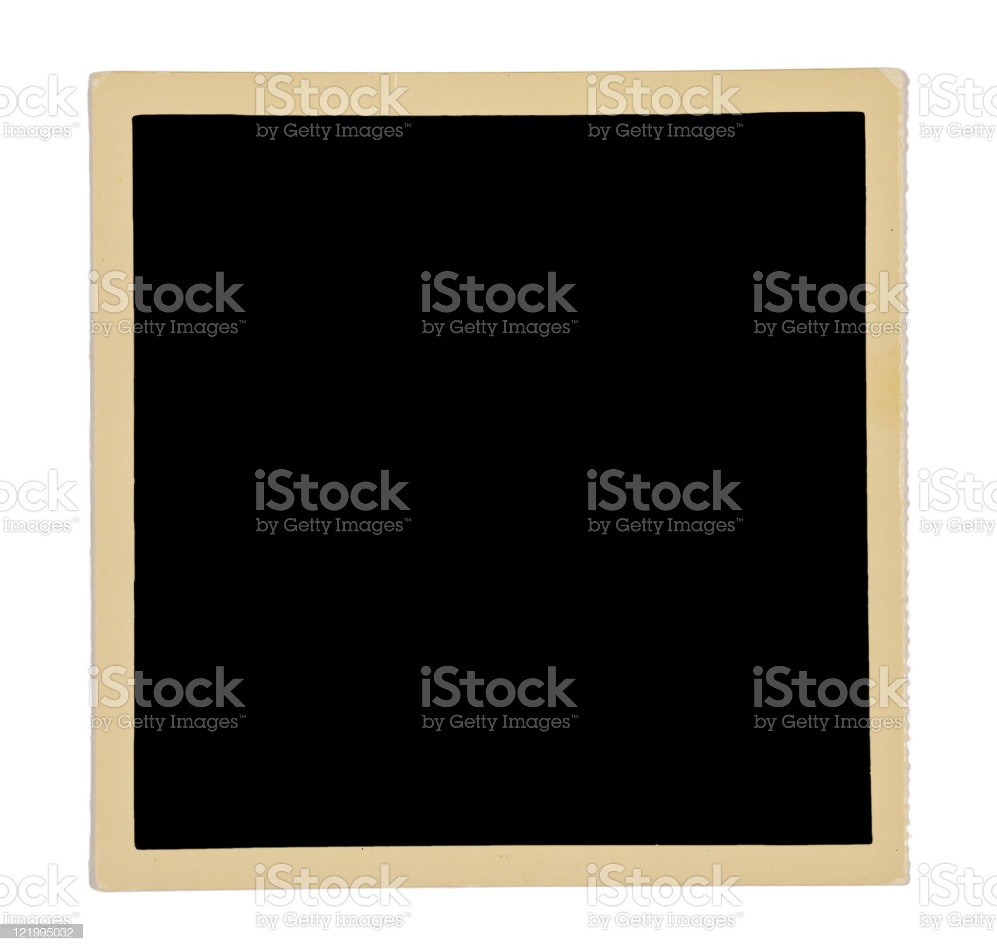 Yellowed Square Photo Border From The 50s royalty-free stock photo