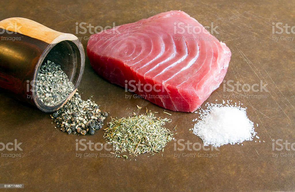 YellowFin Tuna Steak stock photo