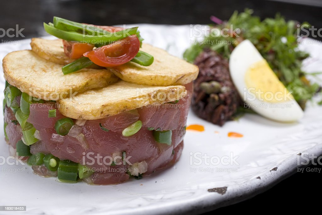 Yellowfin Tuna Tartare royalty-free stock photo