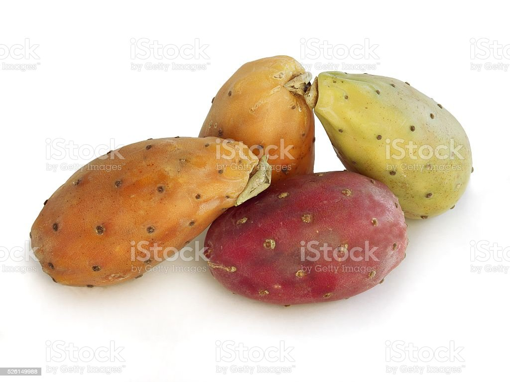 yellow,green and red tuna fruits stock photo