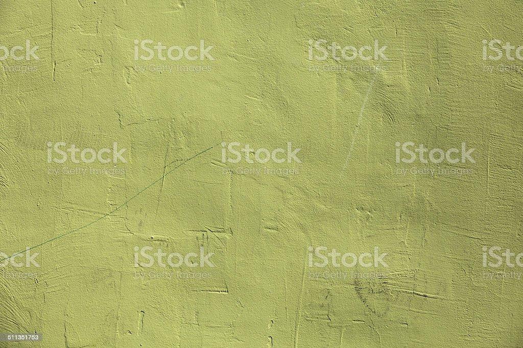 Yellow-green wall stock photo