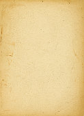 Yellowing piece of aged blank paper