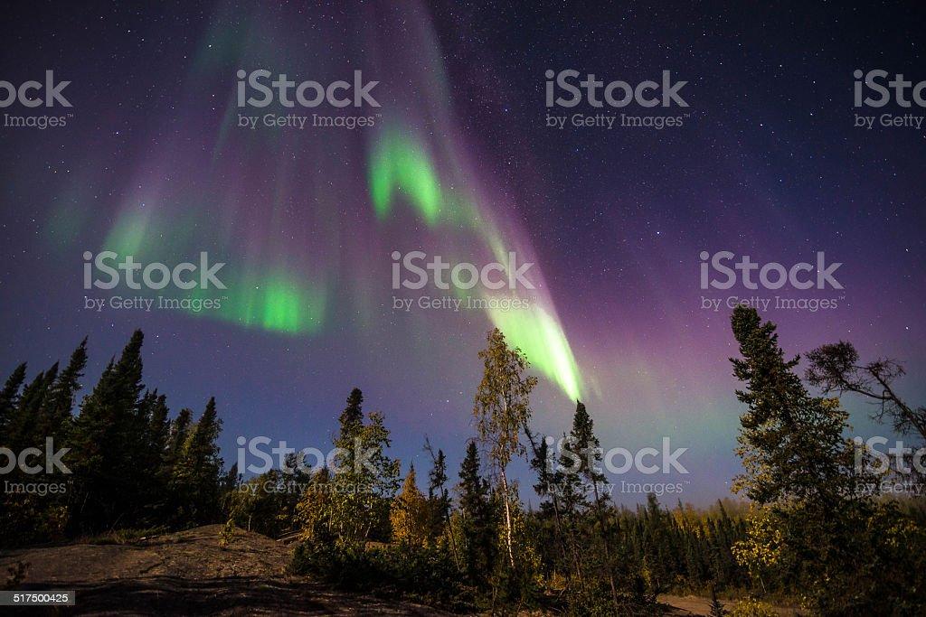 Yellowknife Aurora Borealis stock photo