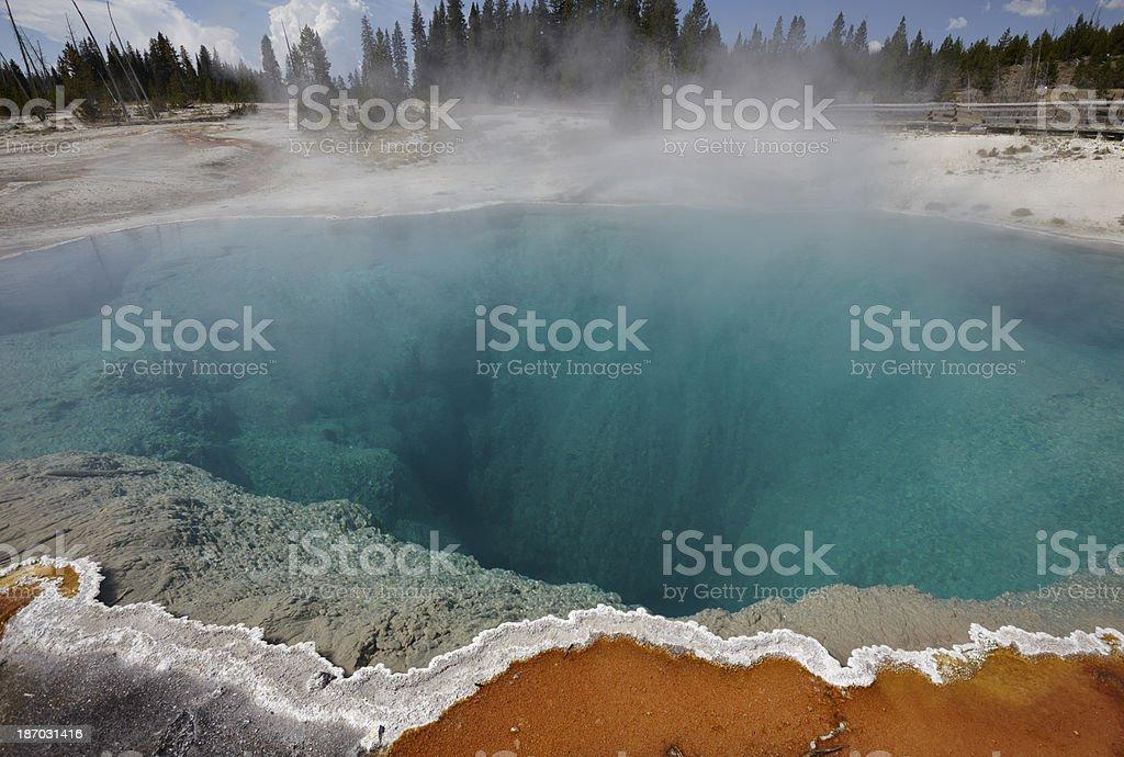 Yellowstone : Black Pool at West Thumb Geyser Basin royalty-free stock photo