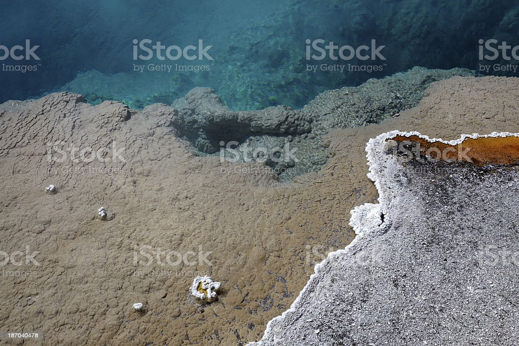 Yellowstone : Black Pool, West Thumb Geyser Basin royalty-free stock photo