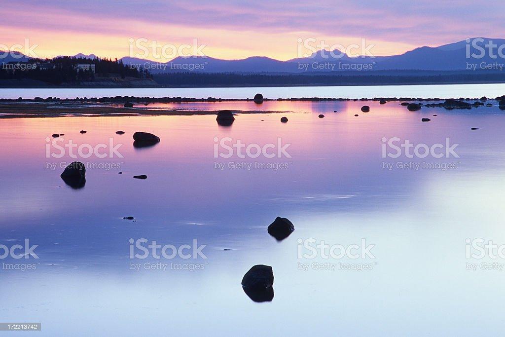 Yellowstone Dawn stock photo