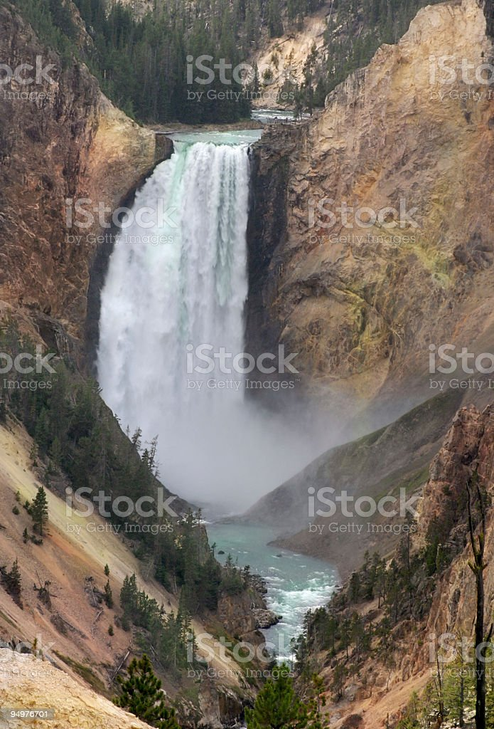 Yellowstone Falls at Artist's Point royalty-free stock photo