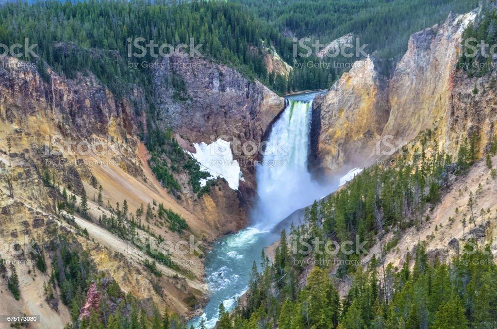 Yellowstone Falls stock photo
