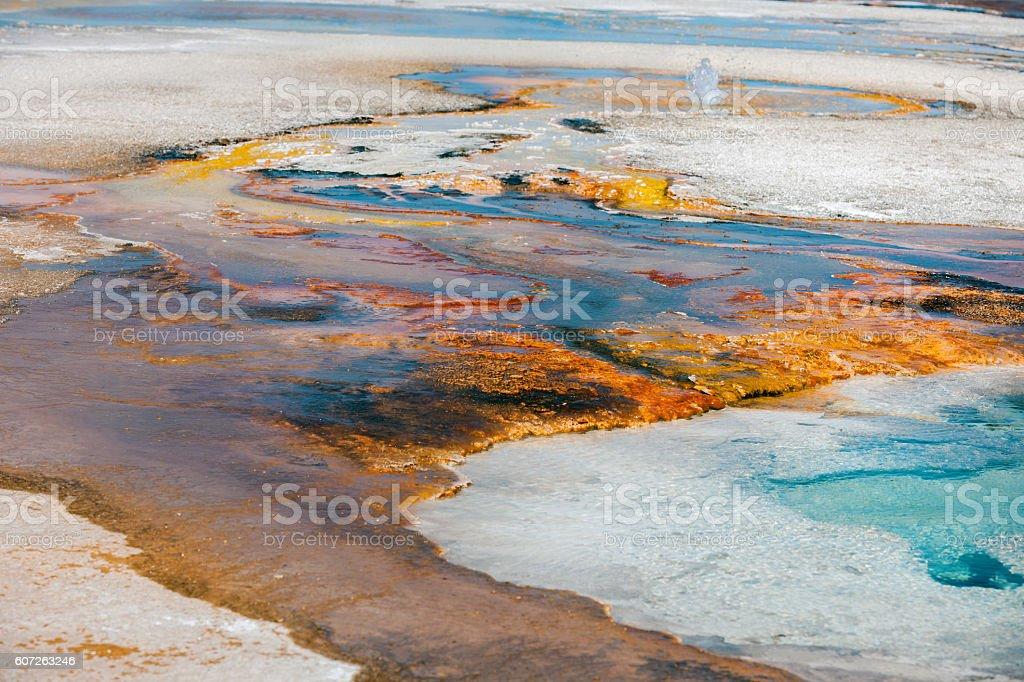 Yellowstone Geyser in Yellowstone National Park Wyoming USA stock photo