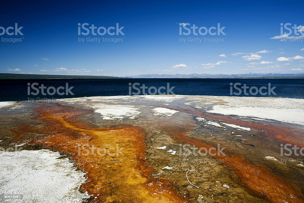 Yellowstone Geyser Runoff royalty-free stock photo