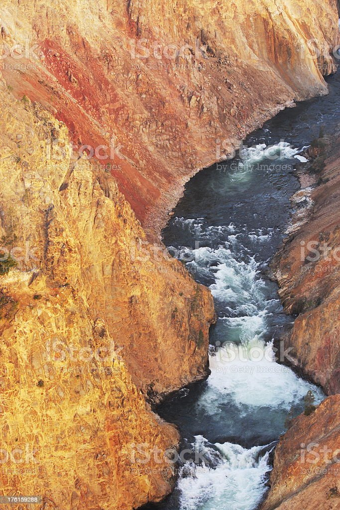 Yellowstone Gorge River Cataracts royalty-free stock photo
