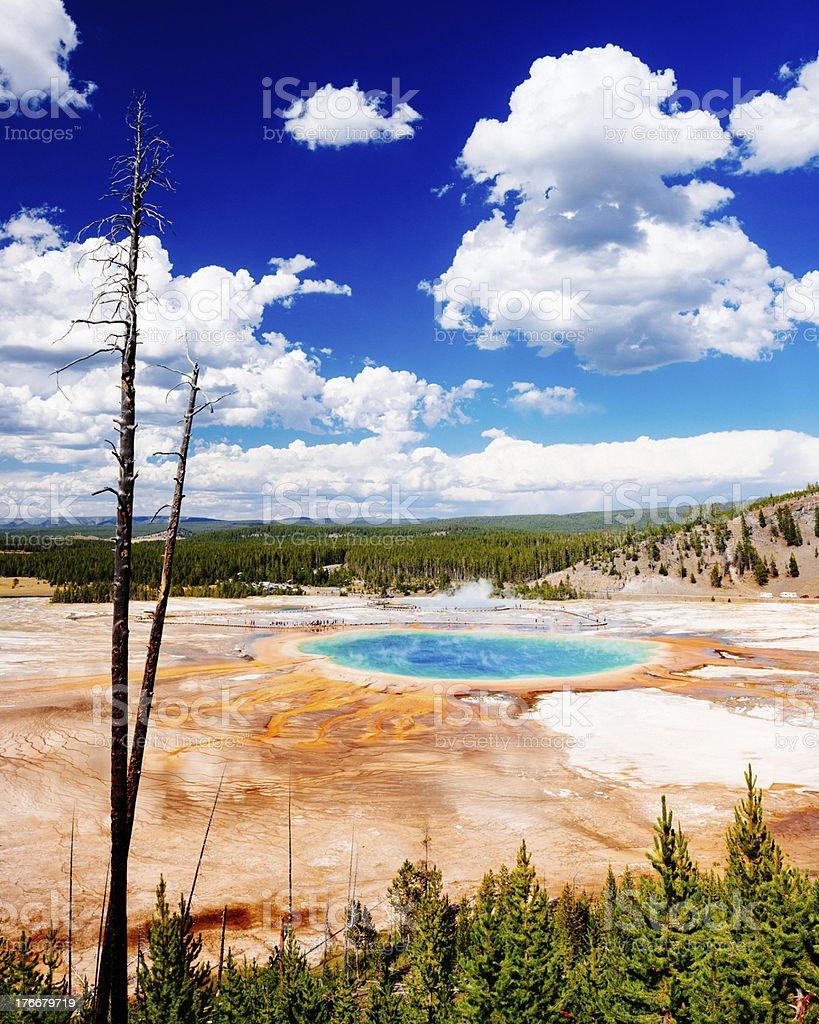 Yellowstone Grand Prismatic Spring stock photo