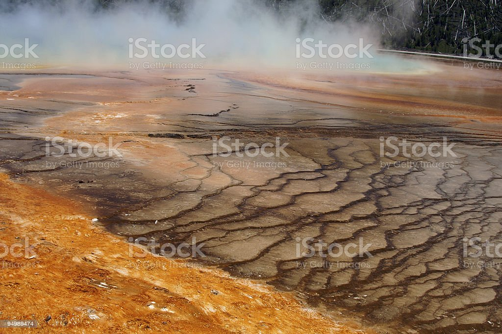 Yellowstone Grand Prismatic Spring stock photo