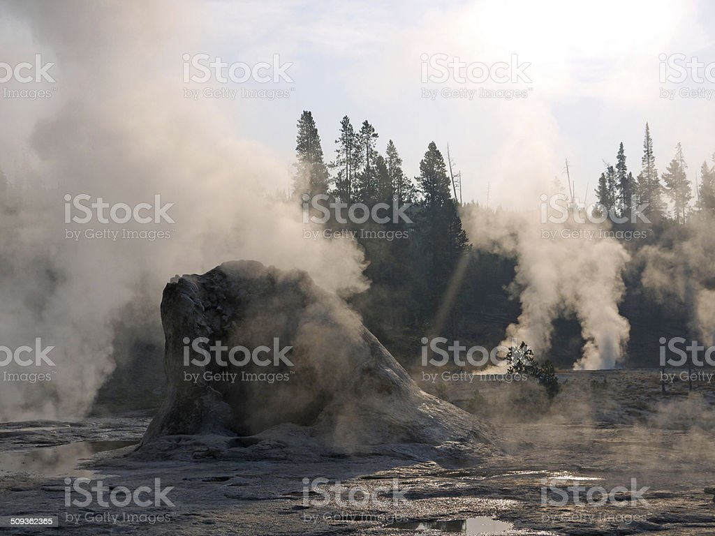 Yellowstone in the morning stock photo