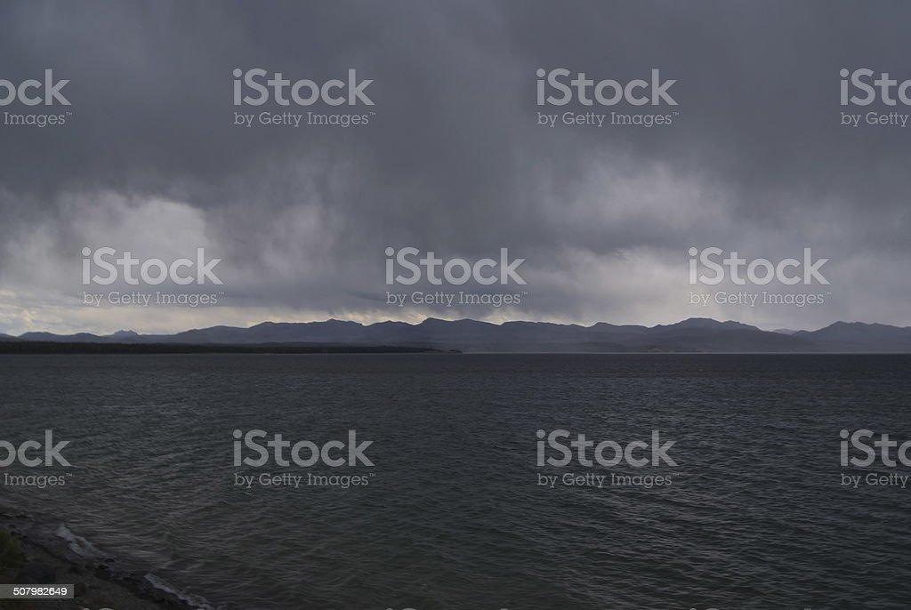 Yellowstone Lake Ridgeline stock photo