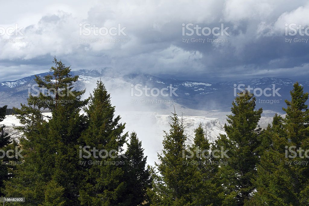 Yellowstone Mountains stock photo