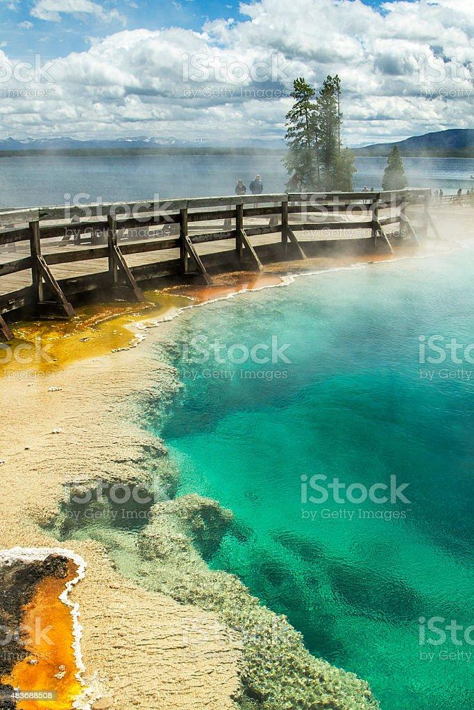 Yellowstone National Park Geyser stock photo