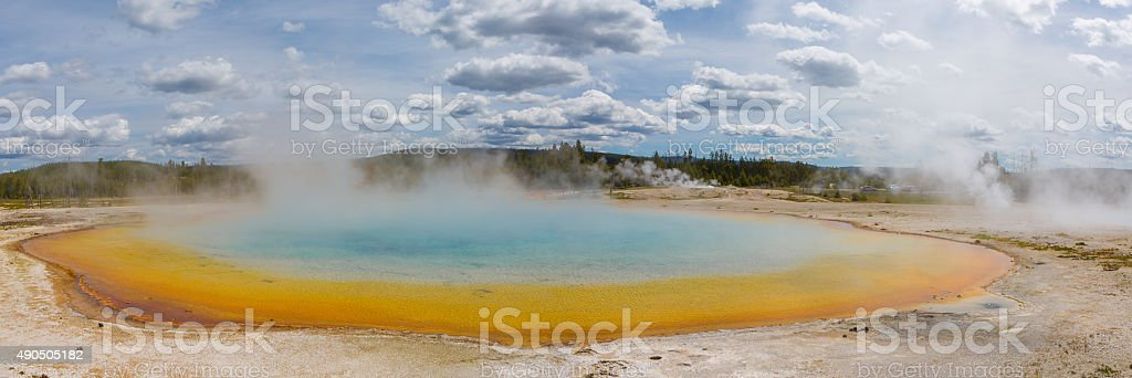 Yellowstone National Park - Grand Prismatic Spring stock photo
