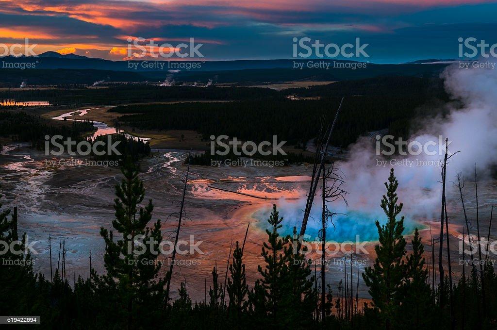 Yellowstone National Park Grand Prizmatic stock photo