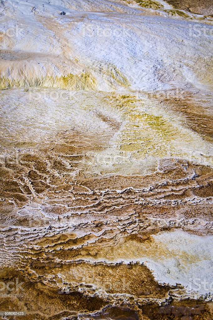 Yellowstone national park hot spring abstract stock photo