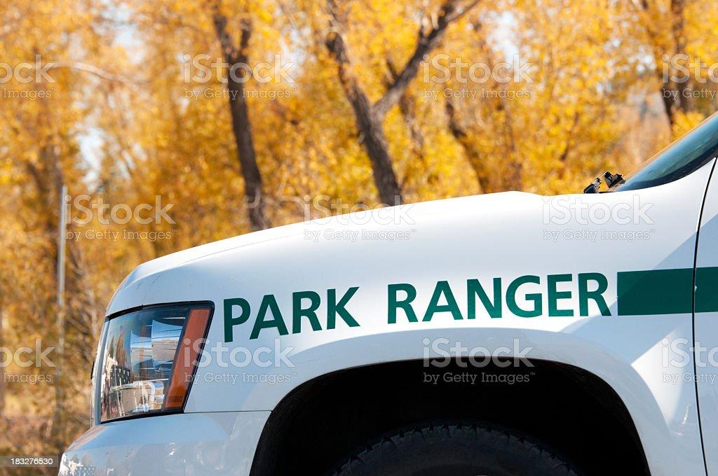 Yellowstone National Park Ranger stock photo