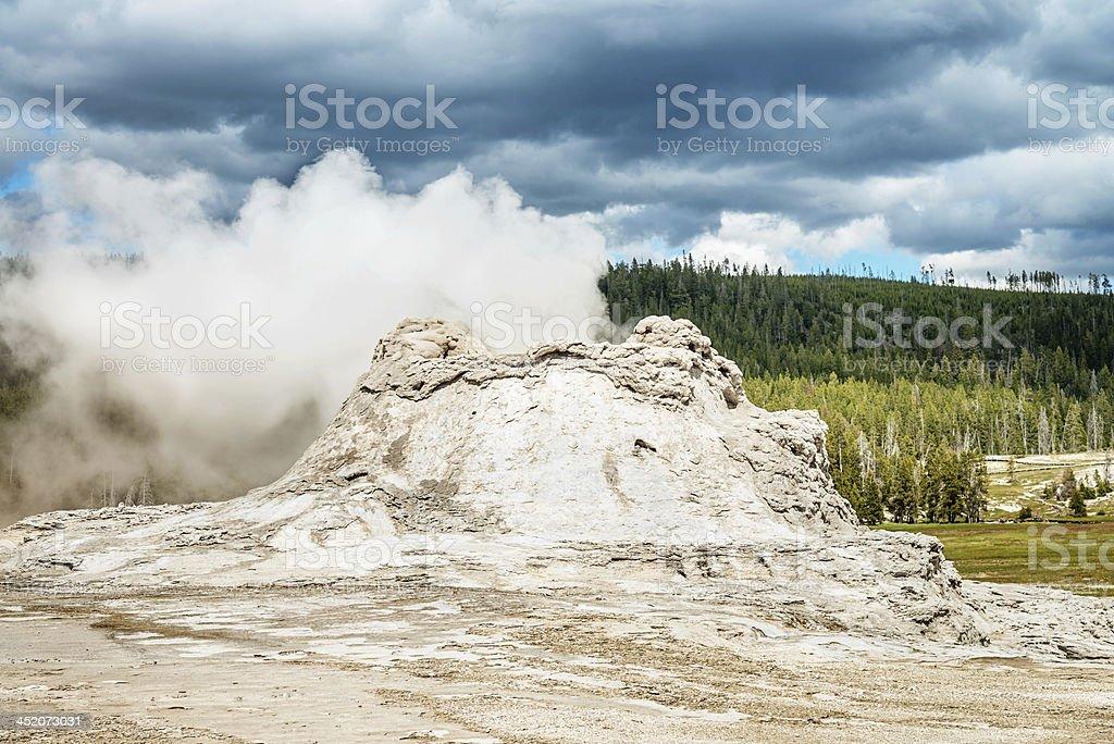 Yellowstone National Park, Smoking Castle Geyser royalty-free stock photo