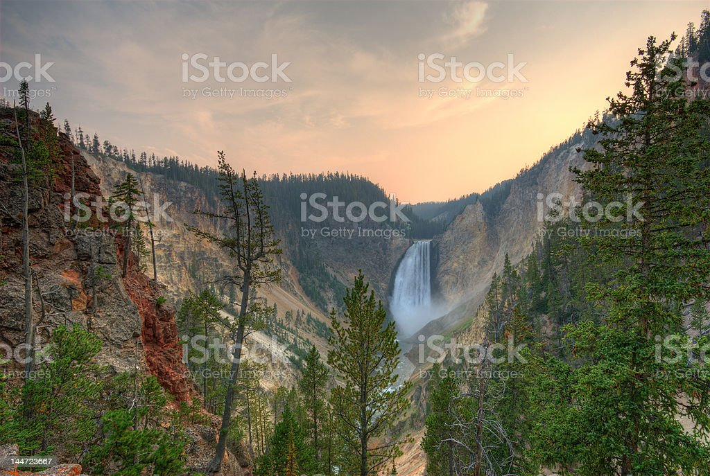 Yellowstone NP. Lower Falls stock photo