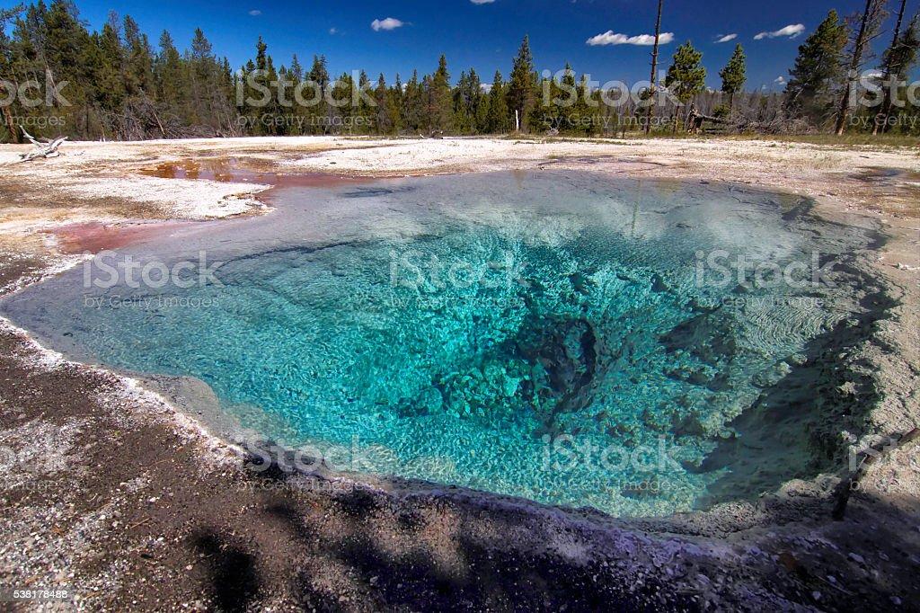 Yellowstone Pools. stock photo
