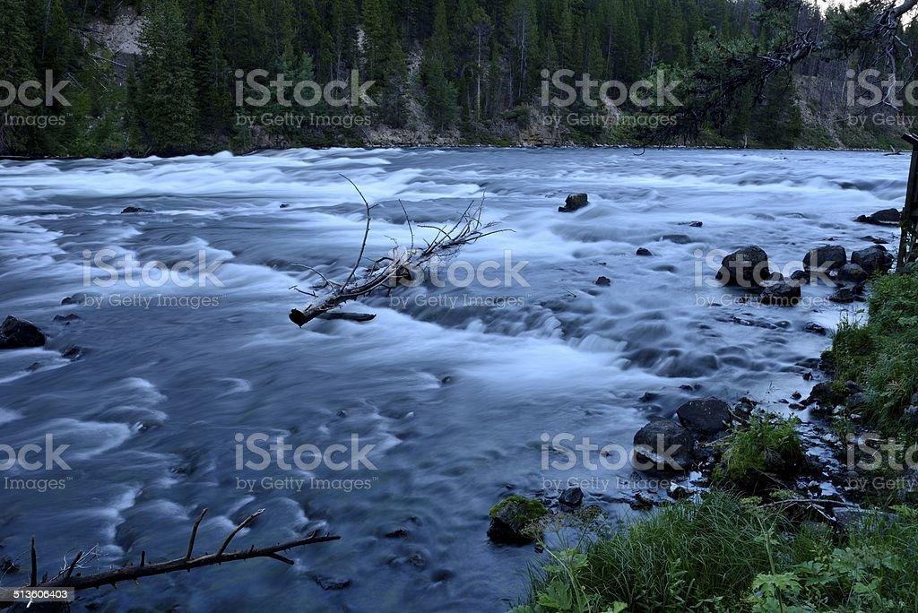 Yellowstone River at LeHardy Rapids stock photo