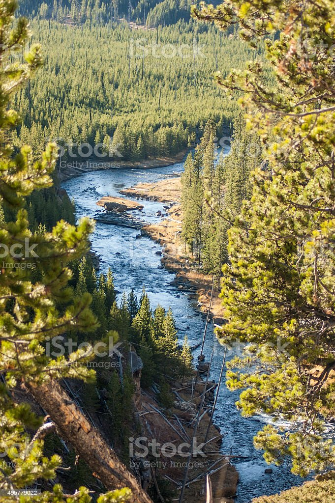 Yellowstone River From Above stock photo