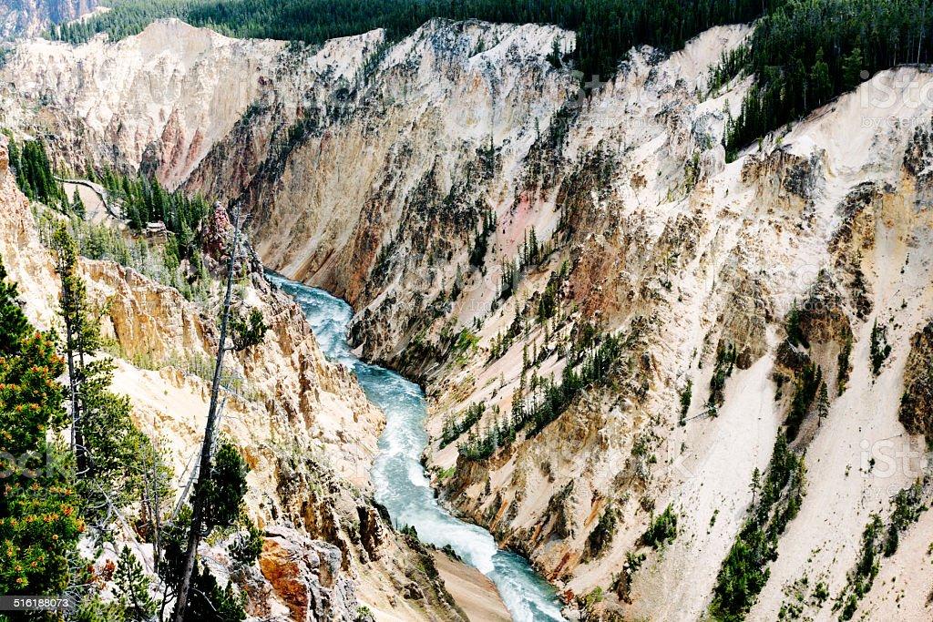 Yellowstone River, gorge stock photo