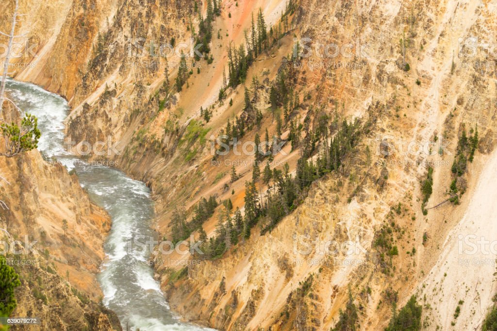 Yellowstone River Grand Canyon of Wyoming's National Park stock photo
