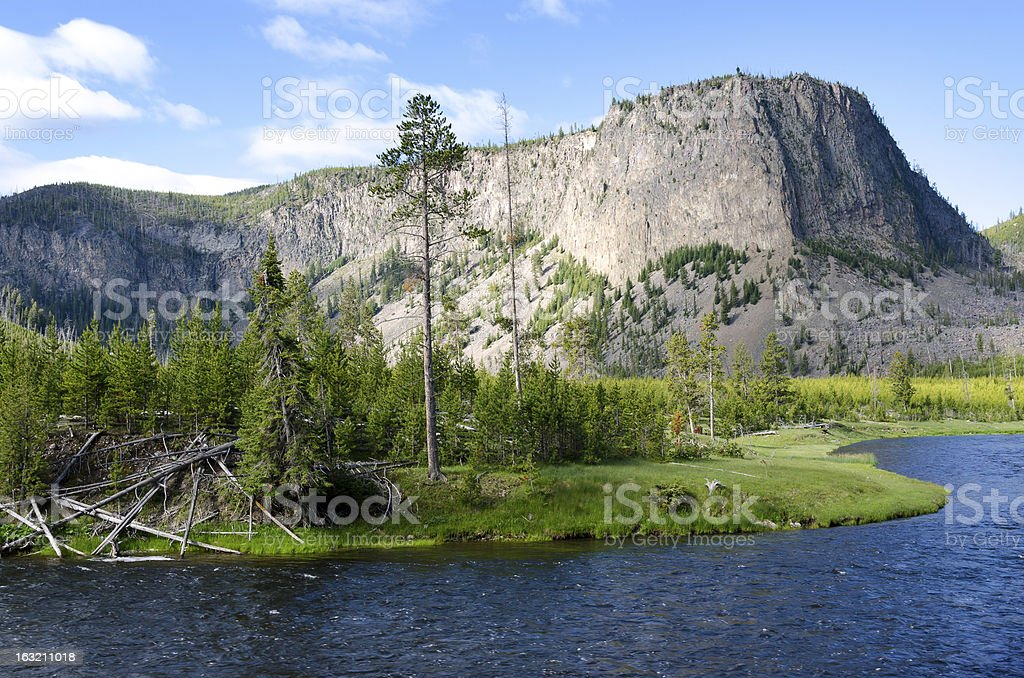 Yellowstone River royalty-free stock photo