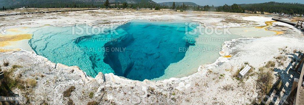 Yellowstone Sapphire Pool Panorama stock photo