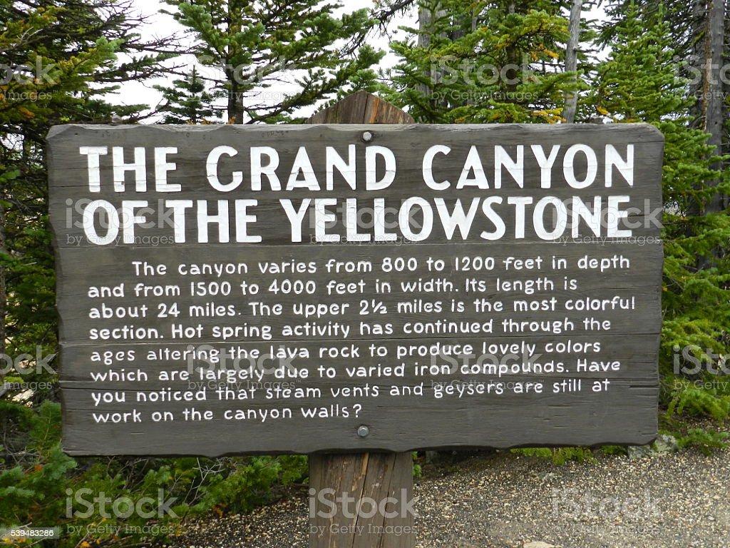 Yellowstone Sign stock photo
