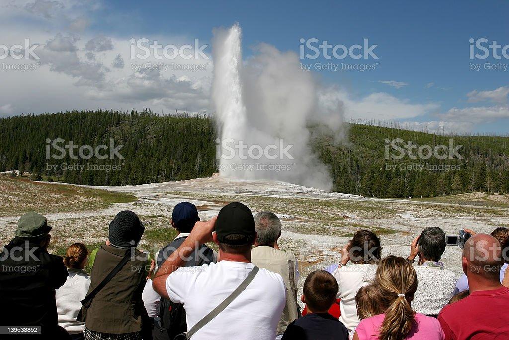 yellowstone tourism stock photo