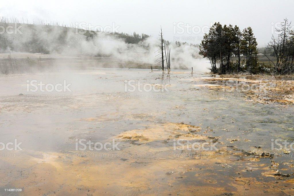 Yellowstone Volcanic Landscape stock photo