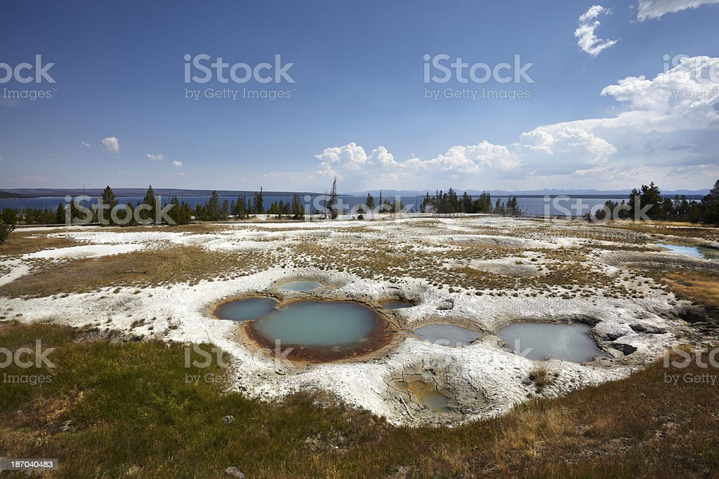Yellowstone : West Thumb Geyser Basin royalty-free stock photo