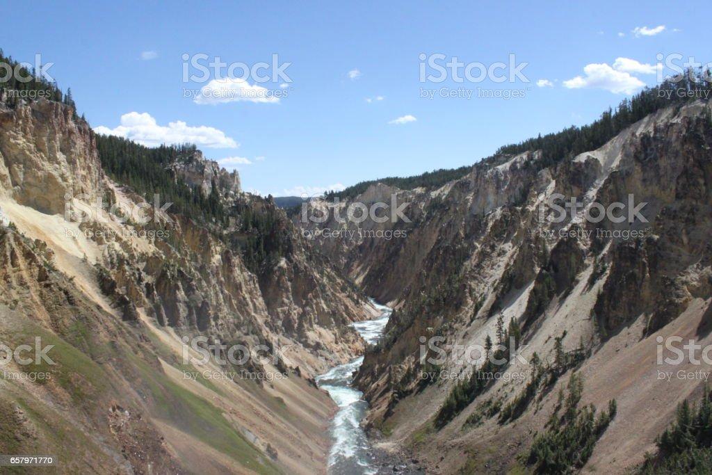 Yellowstone's Grand Canyon stock photo