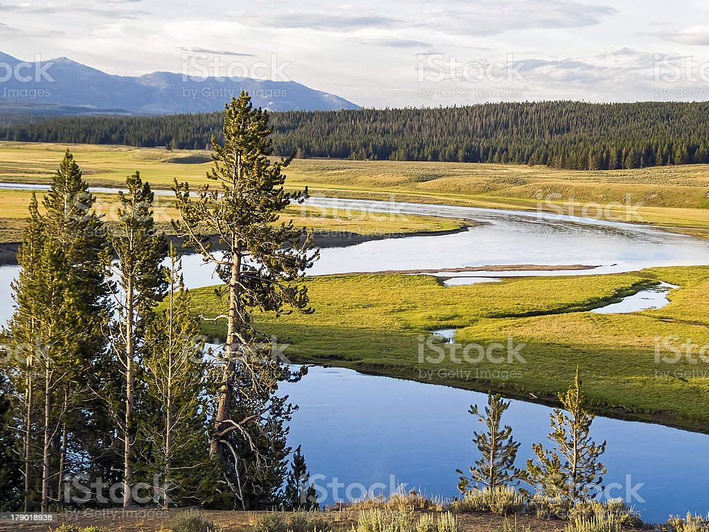 Yellowstone Heyden di valle foto stock royalty-free